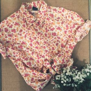Basic Editions Floral Button-Up Shirt
